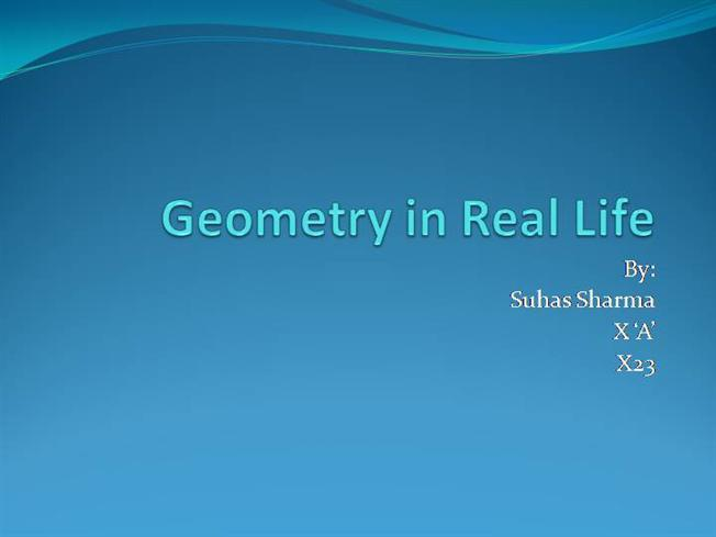 application of geometry Geometry is the visual study of patterns, shapes, positions and sizes, making its use necessary for careers in a variety of industries it is also essential to how we conduct our daily lives, as size, shape and position affect how humans use objects.