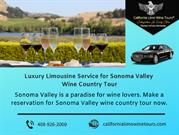 Luxury Limousine Service for Sonoma Valley Wine Country Tour
