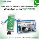 Hans Hyundai Services are now available on Whatsapp.