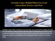 Yerandy Lopez Helpful Hints For Lead Generation Novices And Pros