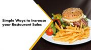Simple Ways Iincrease your Restaurant Sales