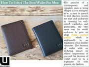 How To Select The Best Wallet For Men