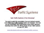 Free Epic Traffic Systems Content