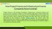 How Project Finance and Infrastructure Finance Companies Raise