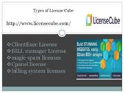types of license
