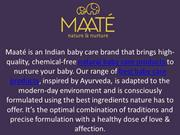 Maate Natural Baby Care Products