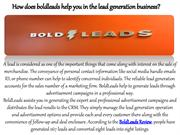 How does boldleads help you in the lead generation business?