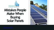 Mistakes People Make When Buying Solar Panels