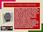 Timeless Pieces of TimeSwiss Replica Watches