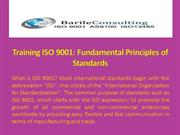 Training ISO 9001 Fundamental Principles of Standards