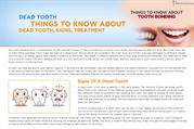 Dead Tooth Things To Know About Dead Tooth, Signs, Treatment