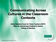 Inter-cultural Communication