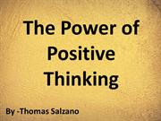 Thomas Salzano - The Power of Positive Thinking