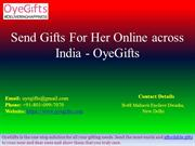 Send Gifts for Her Online across India, Same day Delivery - OyeGifts