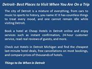 Detroit- Best Places to Visit When You Are On a Trip