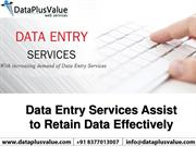 Data Entry Services and Benefits of Data Entry for Company