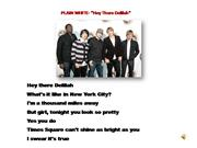 PLAIN WHITE-HEY THERE DELILAH