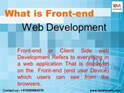 What is front end web development | Teckmovers Solutions
