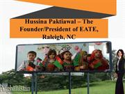 Hussina Paktiawal – The Founder/President of EATE, Raleigh, NC