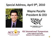 Wayne Pacelle Excerpts Recorded