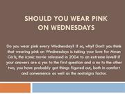 Pink Wednesday Sales Event