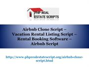 Airbnb Clone Script, Vacation Rental Listing Script, Rental Booking So