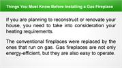 Things You Must Know Before Installing a Gas Fireplace