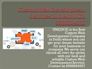 Custom Web Development Services in Delhi  8588884567