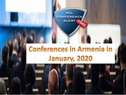 Conferences in Armenia in January, 2020