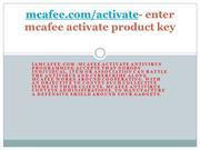 mcafee intro ppt