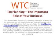 Tax Planning – The Important Role of Your Business