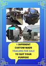 6 Different Custom Made Trailers for Sale to Suit Your Purpose