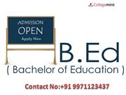B.Ed Distance Education -Correspondence Course, Admission