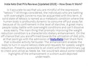 Insta Keto Diet Pills Reviews – How Does It Work?