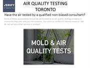 Indoor Air Quality Testing Toronto