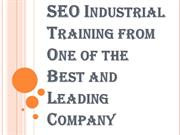 One of the Best and Leading Company for SEO Industrial Training