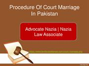 Legal Procedure Of Court Marriage In Pakistan