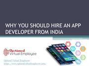 Why you should hire an app developer from India