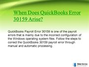 QuickBooks Desktop Error 30159