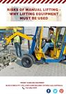 Risks of Manual Lifting - Why Lifting Equipment Must Be Used