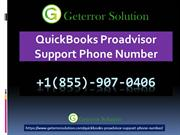 QuickBooks Proadvisor Support Phone Number | 855-9O7-O4O6