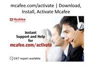 Mcafee com Activate  Download Install  Activate Mcafee