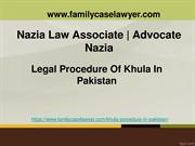Actual Procedure Of Khula In Pakistan