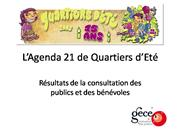 Consultation Agenda21 QE restitution