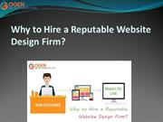 Why to Hire a Reputable Website DesignFirm