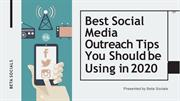 Social Media Outreach Tips Using in 2020