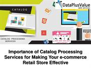 Catalog Processing Services And Their Advantages of Organizations