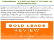 Why Bold Leads Is One Of The Trusted Lead Generation Firms Today?
