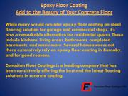 Epoxy Floor Coating - Add to the Beauty of Your Concrete Floor