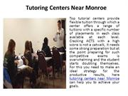 Tutoring Centers Near Monroe